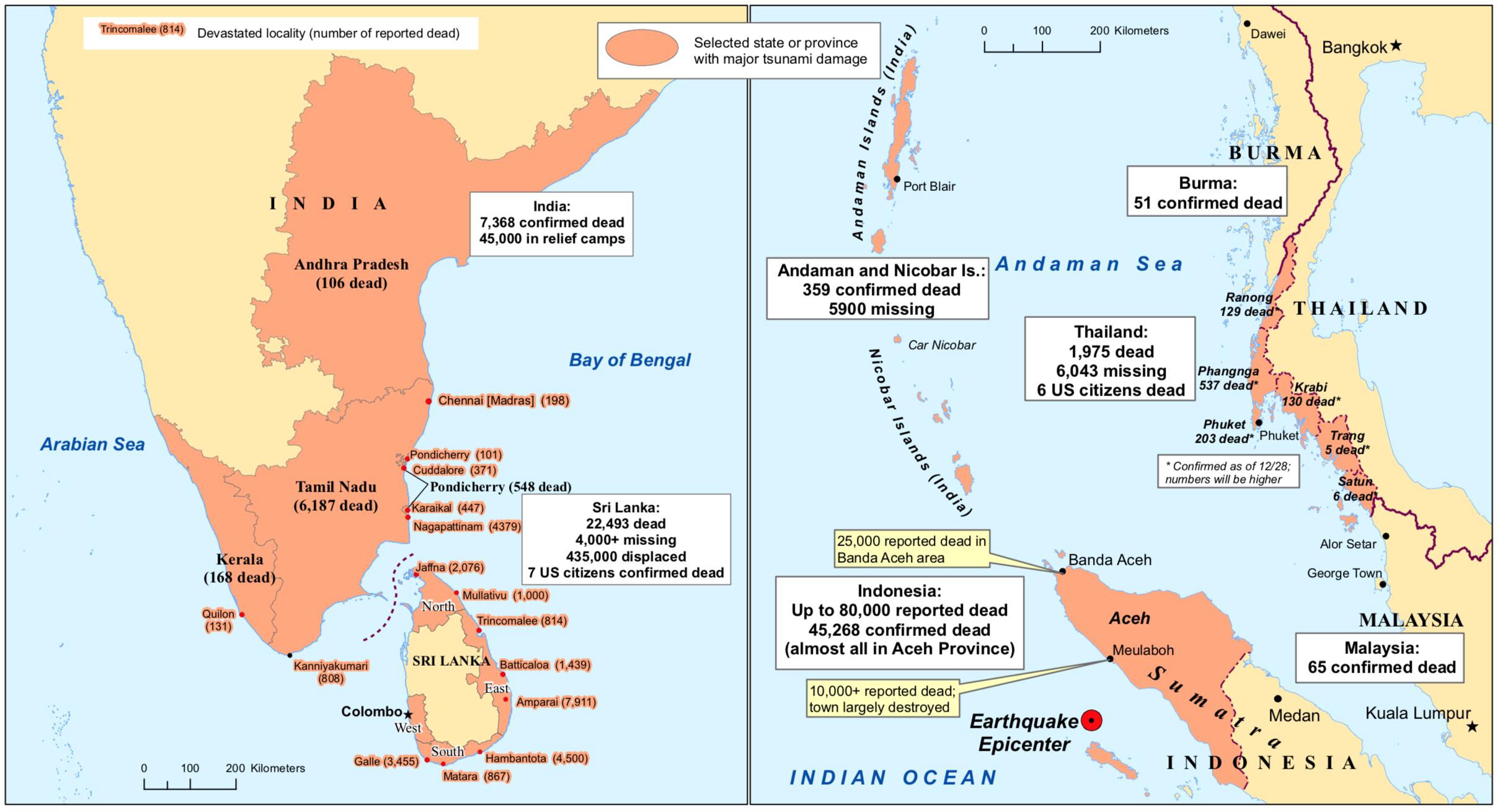 Tsunami 2004 Map